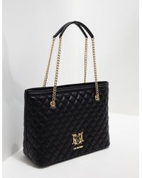 Love Moschino - Quilted Shopper Bag Black - Lyst