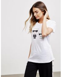 Karl Lagerfeld Ikonik Short Sleeve T-shirt White