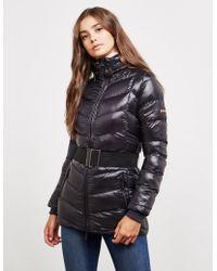 Barbour - Womens Premium International Jerez Belted Jacket Black - Lyst