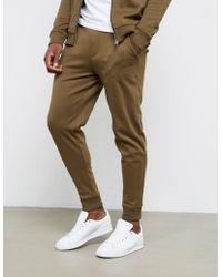 HUGO - Mens Dandler Cuffed Track Trousers Khaki/khaki - Lyst