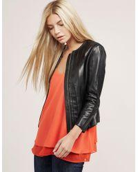 Versace | Womens Leather Jacket Black | Lyst