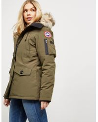 Canada Goose - Womens Montebello Padded Parka Jacket Green - Lyst