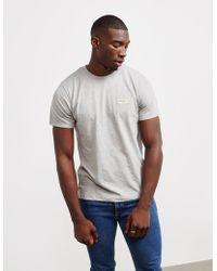Nudie Jeans - Mens Daniel Logo Short Sleeve T-shirt Grey - Lyst