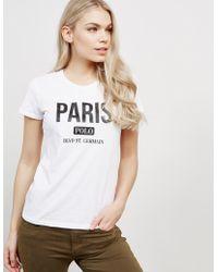 Polo Ralph Lauren - Womens Paris Short Sleeve T-shirt White - Lyst
