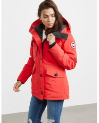 Canada Goose - Womens Rideau Padded Parka Jacket Red - Lyst
