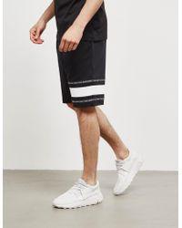 HUGO - Dorts Fleece Shorts Black - Lyst
