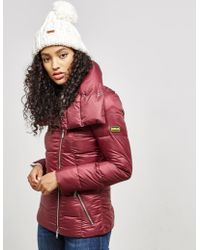 Barbour - Womens International Padded Rockingham Jacket Red - Lyst