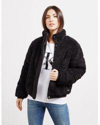 95a91f3a261829 Calvin Klein - Polar Fleece Oversized Jacket - Online Exclusive Black - Lyst