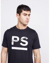 PS by Paul Smith - Mens Underline Short Sleeve T-shirt Black - Lyst