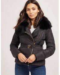 Versace | Womens Short Padded Jacket Black | Lyst