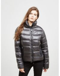 Polo Ralph Lauren - Womens Embroidered Down Jacket Grey - Lyst