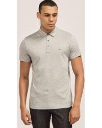 Michael Kors - Mens Sleek Polo Shirt Grey - Lyst