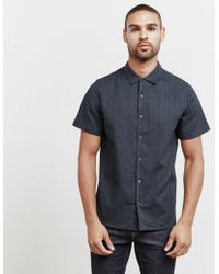 PS by Paul Smith - Mens Seer Short Sleeve Shirt Navy Blue - Lyst