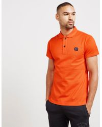Paul And Shark - Mens Short Sleeve Pique Polo Shirt Orange - Lyst