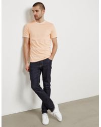 Fred Perry - Mens Tipped Short Sleeve T-shirt - Exclusive - Exclusively To Tessuti Peach - Lyst