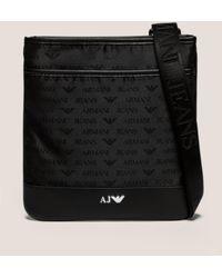 6d9f33cd4c Armani Jeans - Mens Nylon Small Item Bag Black - Lyst