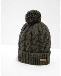 Barbour - Mens International Bobble Hat - Exclusively To Tessuti Sage/sage - Lyst