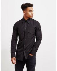 DSquared² - Mens Western Long Sleeve Shirt Black - Lyst