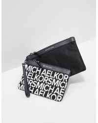 Michael Kors - Womens Duo Travel Pouch Black - Lyst