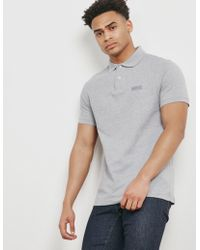 Barbour - Mens International Short Sleeve Polo Shirt Grey - Lyst