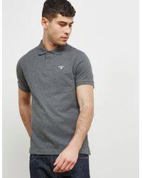 Barbour - Mens Pique Short Sleeve Polo Shirt Grey - Lyst