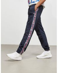 Champion - Mens Tape Cuffed Track Trousers Navy Blue - Lyst