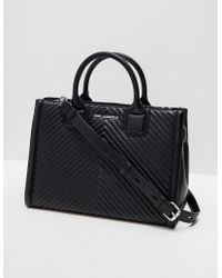 Karl Lagerfeld Quilted Tote Bag Black