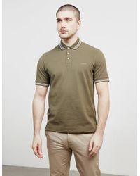 Z Zegna - Mens Tipped Short Sleeve Polo Shirt Green - Lyst