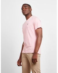 Barbour - Mens Cove Short Sleeve T-shirt Pink - Lyst