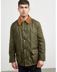Barbour - Mens Ashby Wax Jacket Green - Lyst