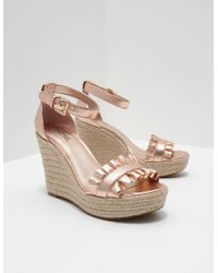 Michael Kors - Womens Bella Wedges Gold - Lyst