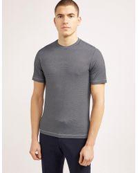 Armani - Mens Pattern Short Sleeve T-shirt Black - Lyst