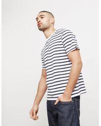 Rag & Bone - Mens Henry Stripe Short Sleeve T-shirt White - Lyst