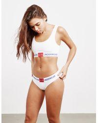 Calvin Klein - Monogram Logo White Knickers - Womens Xs - Lyst