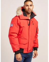 Canada Goose - Mens Chateau Padded Parka Jacket Red - Lyst
