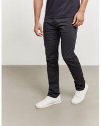 Emporio Armani - Mens Straight Leg Trousers Navy Blue - Lyst