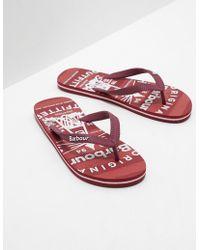 Barbour - Mens Beach Flip Flops Red - Lyst
