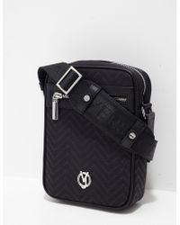 Versace | Mens Linea All Over Print Small Item Bag Black/black | Lyst