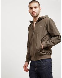 Fred Perry - Mens Brentham Hooded Lightweight Jacket - Exclusive - Exclusively To Tessuti Green - Lyst