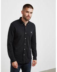 Polo Ralph Lauren - Mesh Long Sleeve Shirt Black - Lyst