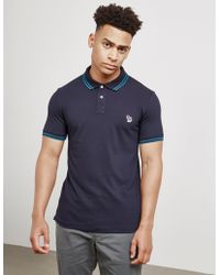 PS by Paul Smith - Mens Tipped Zebra Short Sleeve Polo Shirt Navy Blue - Lyst