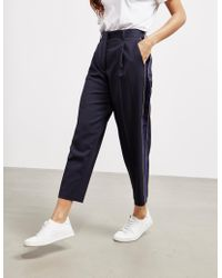Tommy Hilfiger - Womens Cropped Trousers Navy Blue - Lyst