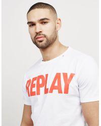 Replay - Mens Logo Short Sleeve T-shirt White - Lyst