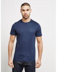 Michael Kors - Mens Sleek Crew Neck T-shirt Blue - Lyst