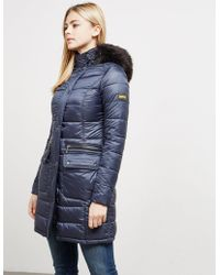 Barbour - Womens International Dunnet Padded Jacket Navy - Lyst