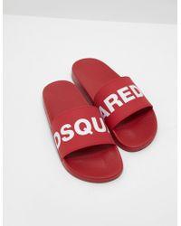 DSquared² - Mens Logo Slides - Lyst
