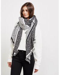 Calvin Klein - Womens Check Scarf - Online Exclusive Black - Lyst