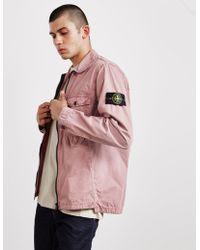 Stone Island - Mens 2 Pocket Overshirt Pink - Lyst