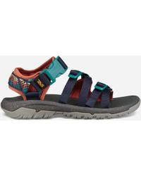 d039bd6d99c89 Lyst - Teva Alp Canvas Multi Strap Sandals in Black for Men