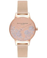 Olivia Burton - Lace Detail Mesh Watch - Lyst